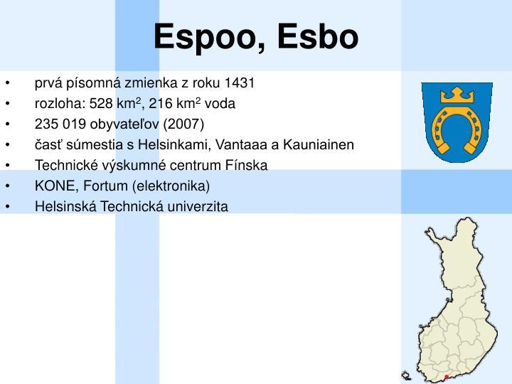 Espoo, Esbo
