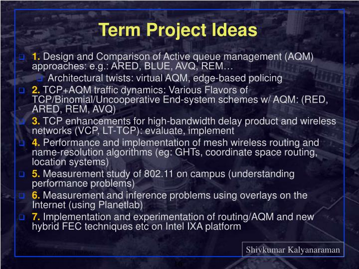 Term Project Ideas