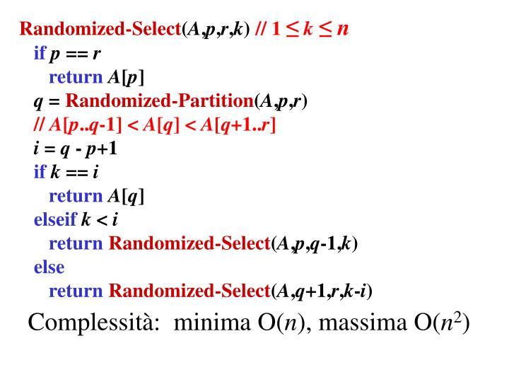 Randomized-Select