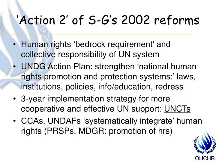 'Action 2' of S-G's 2002 reforms
