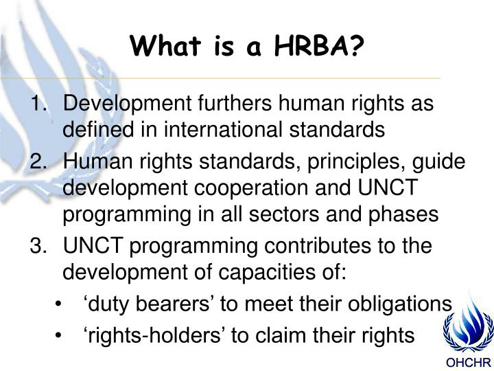 What is a HRBA?