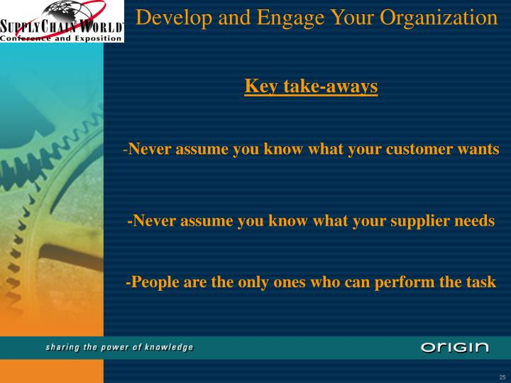 Develop and Engage Your Organization
