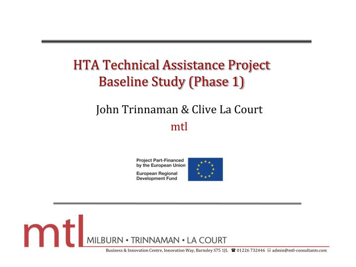 Hta technical assistance project baseline study phase 1