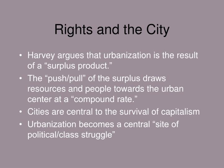 Rights and the City