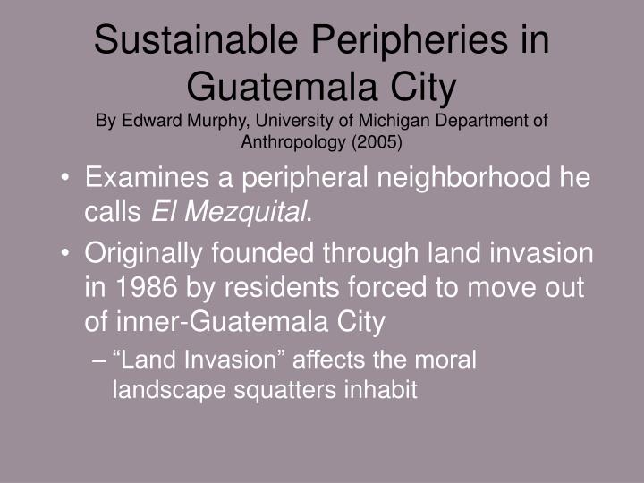 Sustainable Peripheries in Guatemala City