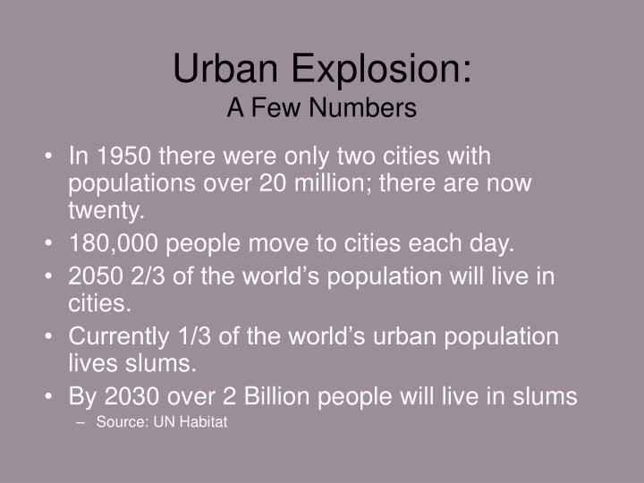 Urban Explosion: