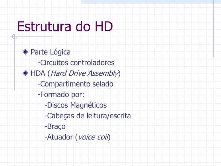 Estrutura do HD
