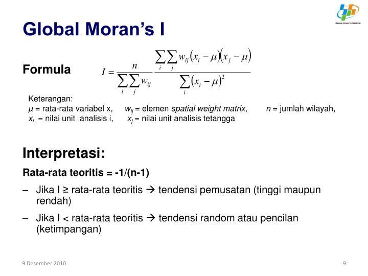 Global Moran's I