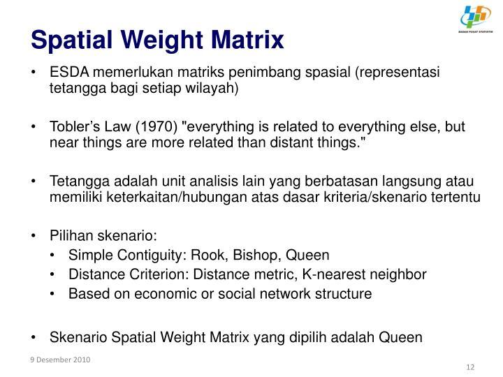 Spatial Weight Matrix
