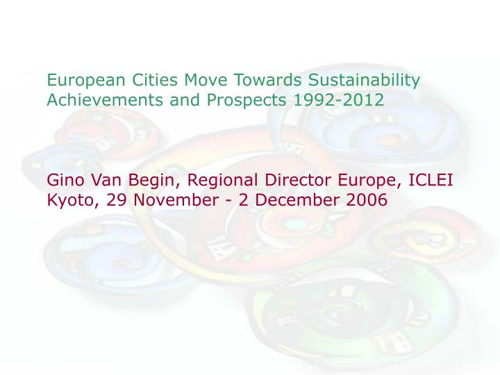 European Cities Move Towards Sustainability