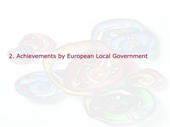 2. Achievements by European Local Government