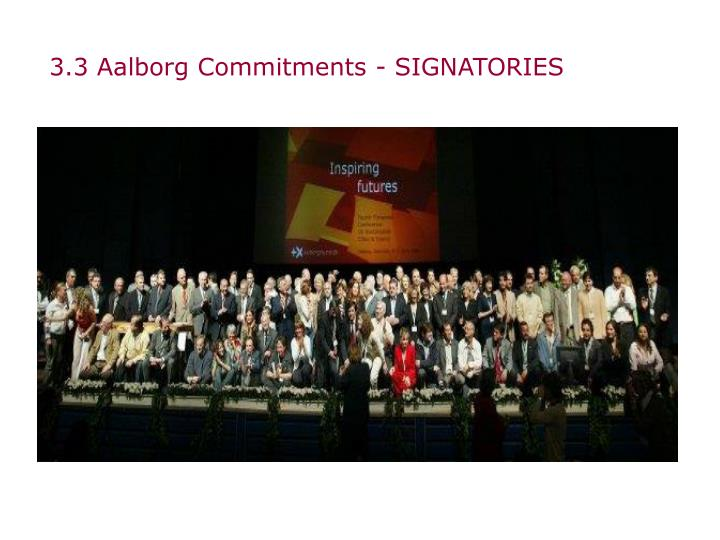 3.3 Aalborg Commitments - SIGNATORIES