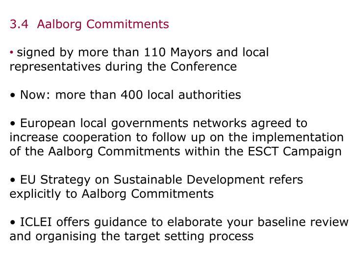 3.4  Aalborg Commitments