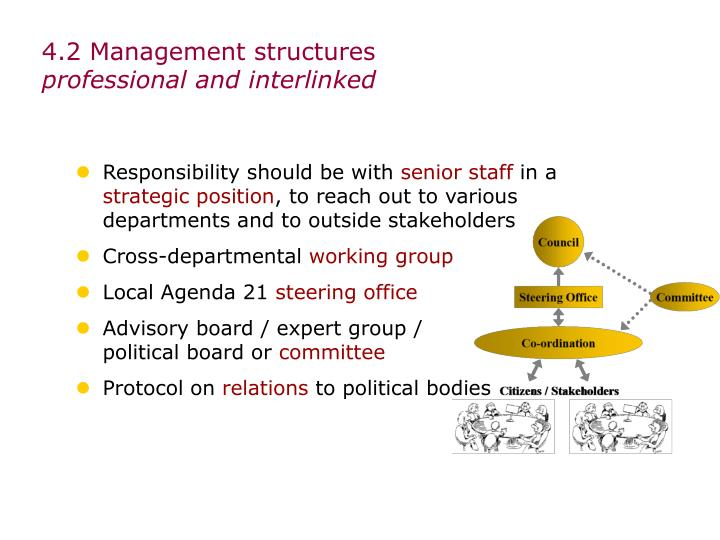 4.2 Management structures