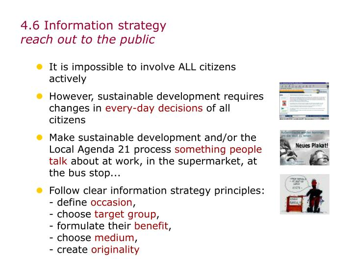 4.6 Information strategy