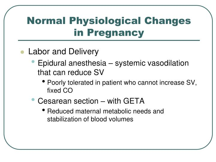 Physiological Changes In Pregnancy And Congenital Heart Disease