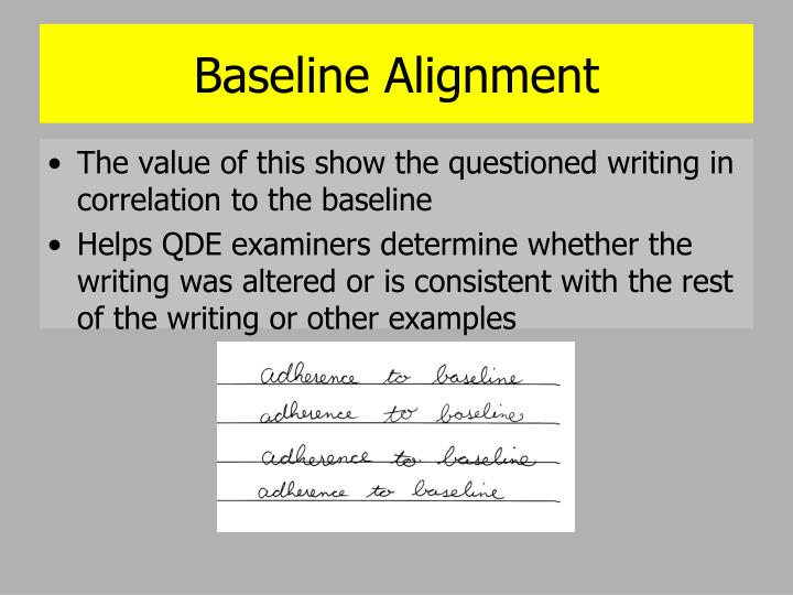 Baseline Alignment