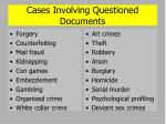 cases involving questioned documents