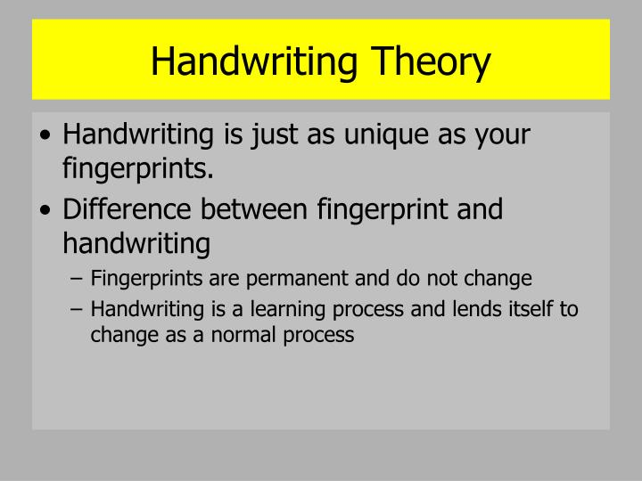 Handwriting Theory