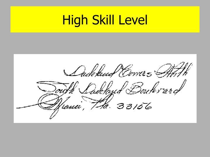 High Skill Level