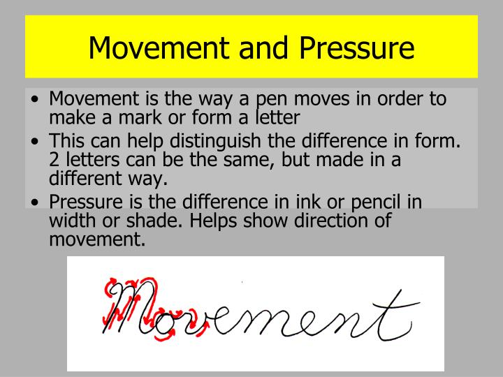 Movement and Pressure