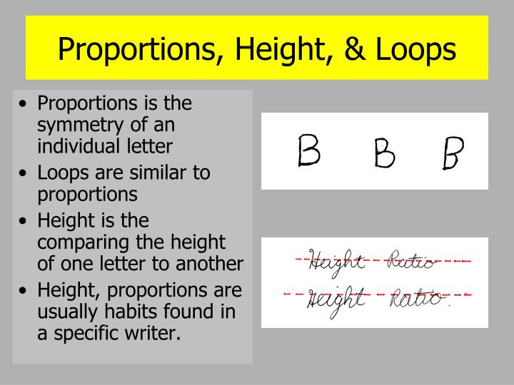 Proportions, Height, & Loops