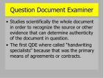 question document examiner