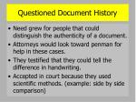 questioned document history1