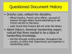 questioned document history2
