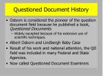 questioned document history3