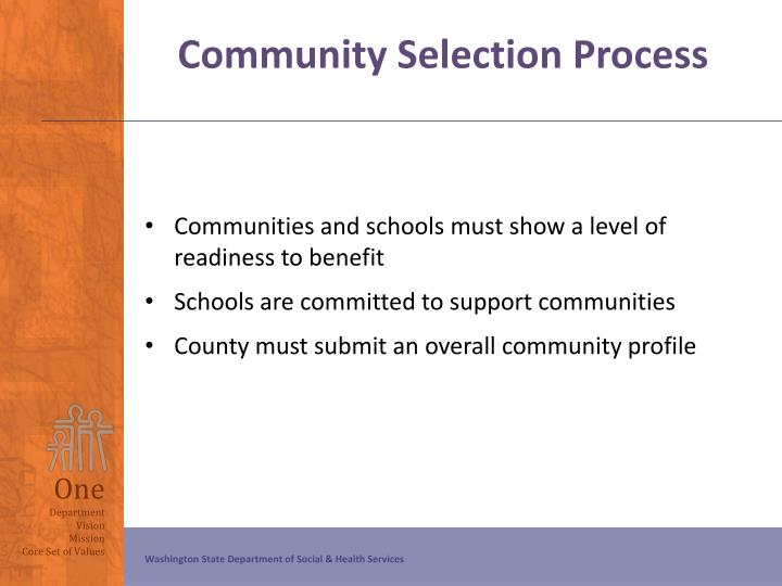 Community Selection Process