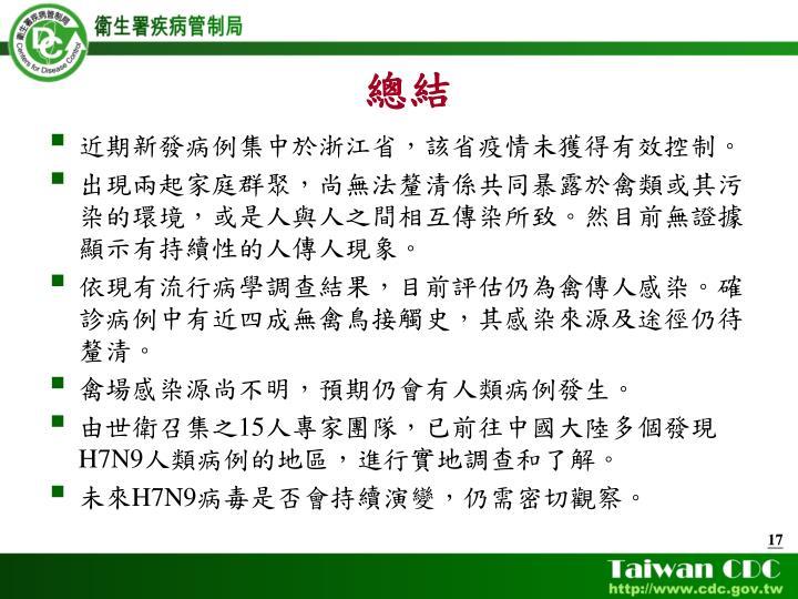 近期新發病例集中於浙江省,該省疫情未獲得有效控制。