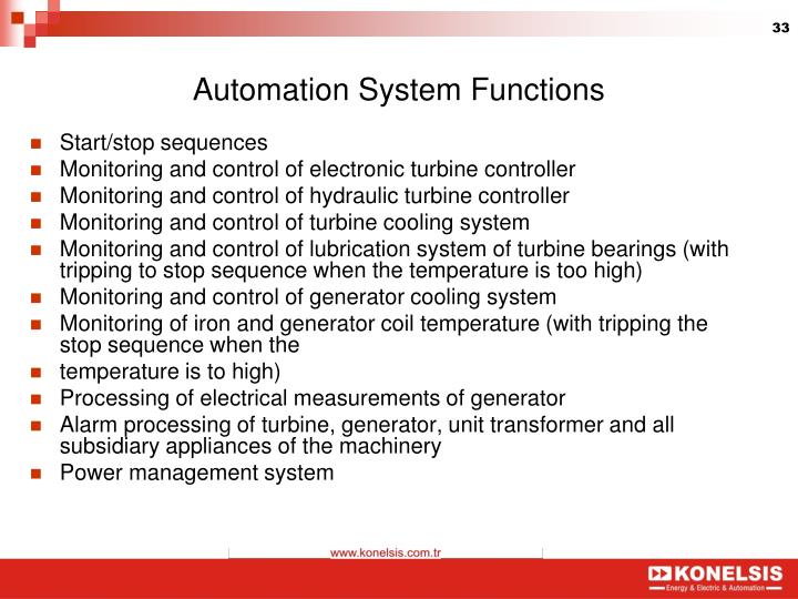 Automation System Functions