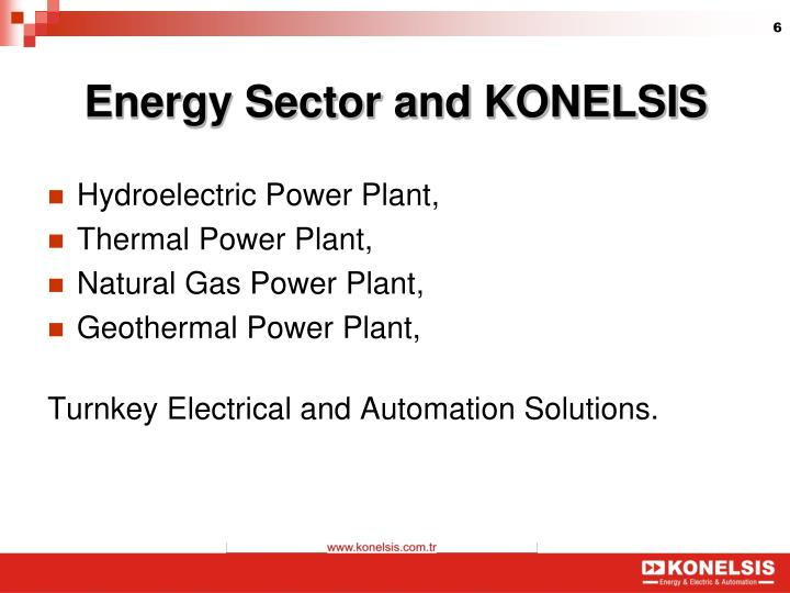 Energy Sector and KONELSIS