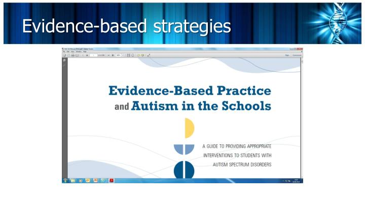 Evidence-based strategies