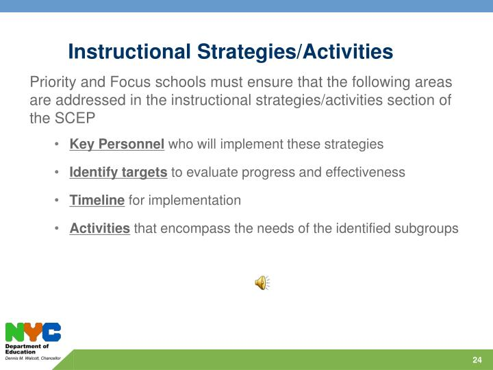Instructional Strategies/Activities
