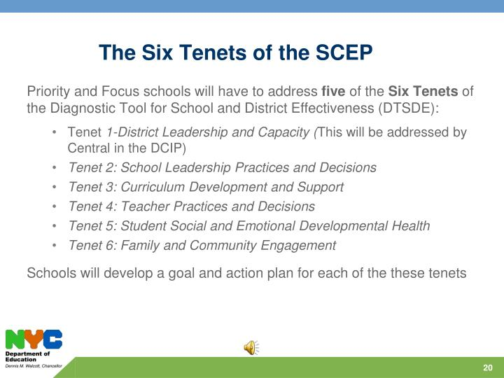 The Six Tenets of the SCEP