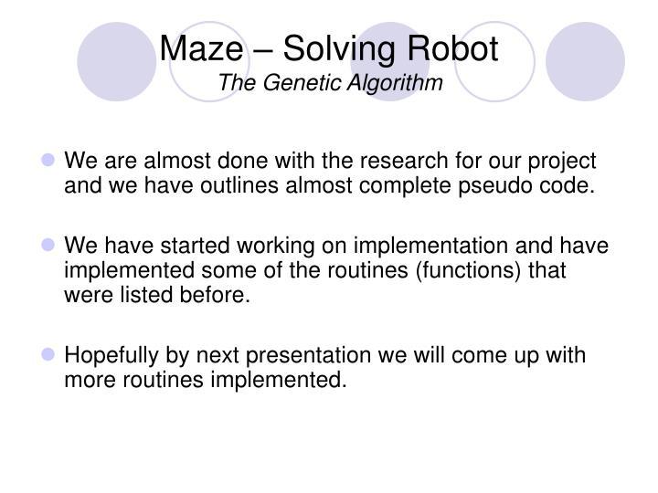 Genetic algorithm gambling
