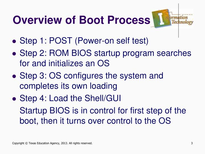 Overview of boot process