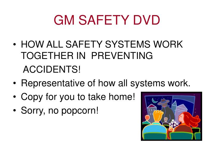 GM SAFETY DVD