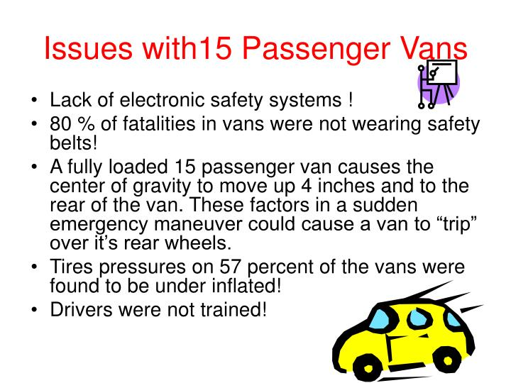 Issues with15 Passenger Vans