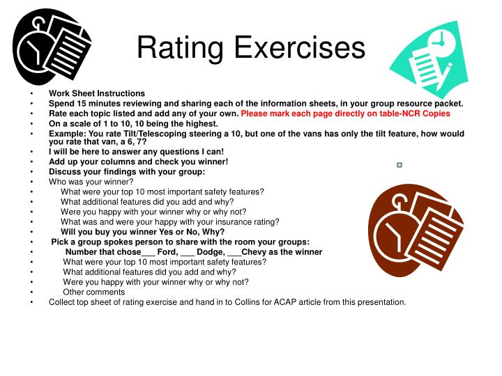 Rating Exercises