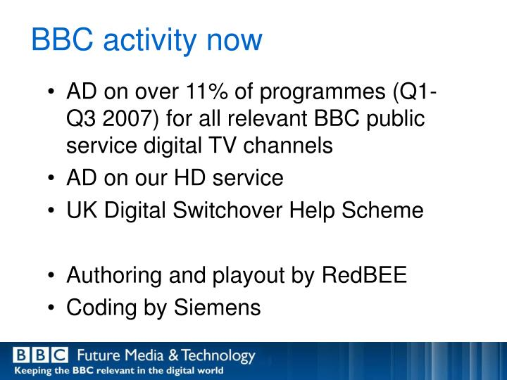 BBC activity now