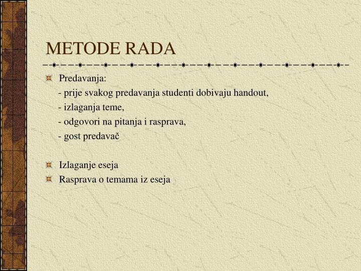 METODE RADA
