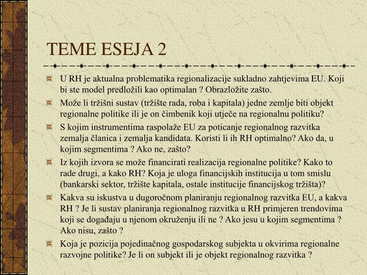 TEME ESEJA 2