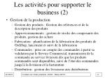 les activit s pour supporter le business 2