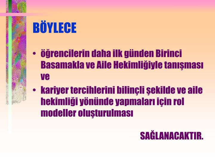 BÖYLECE