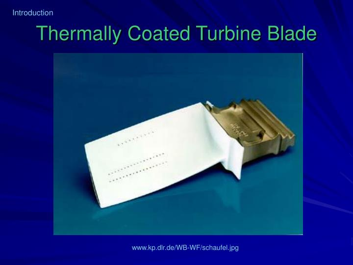 Thermally coated turbine blade