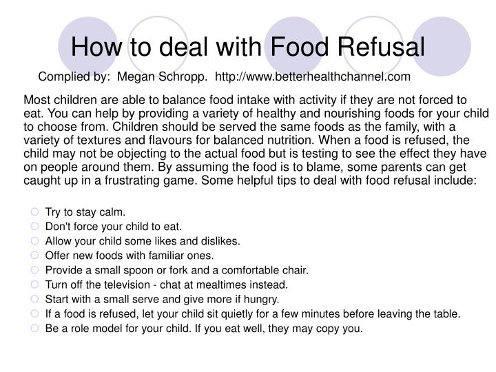 How to deal with Food Refusal