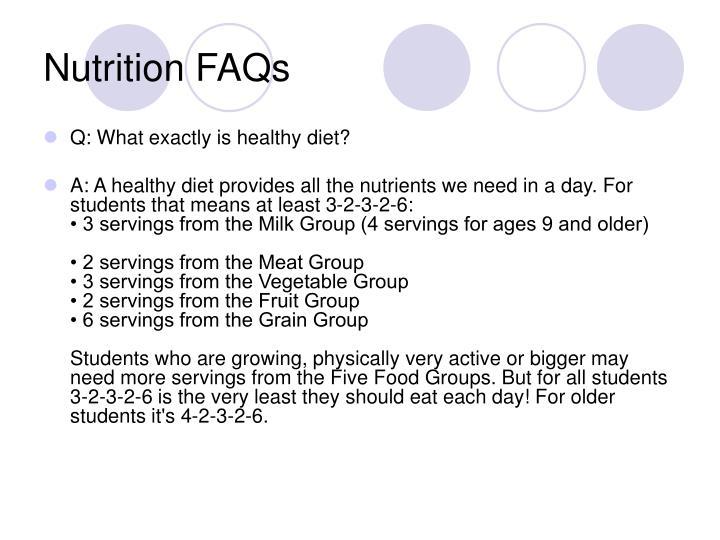 Nutrition FAQs